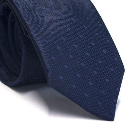 Gravata-tradicional-em-poliester-azul-marinho-com-poa