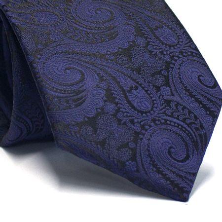 Gravata-tradicional-em-poliester-preta-com-cashmere-azul-marinho