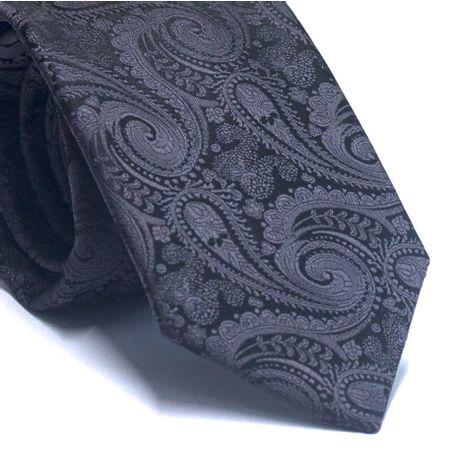 Gravata-tradicional-em-poliester-preta-com-cashmere-cinza-chumbo