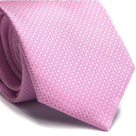 Gravata-tradicional-poliester-rosa-com-desenho-geometrico-em-tons-de-rosa