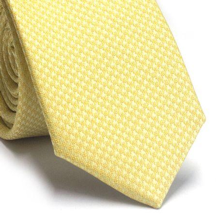 Gravata-slim-em-poliester-amarelo-com-detalhes-na-trama
