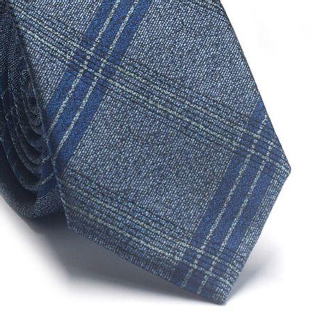 Gravata-slim-em-poliester-azul-petroleo-com-detalhes-em-preto-e-azul-klein