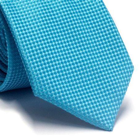 Gravata-tradicional-em-poliester-azul-piscina-com-detalhes-na-trama