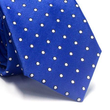 Gravata-tradicional-em-poliester-azul-royal-com-poa-branco