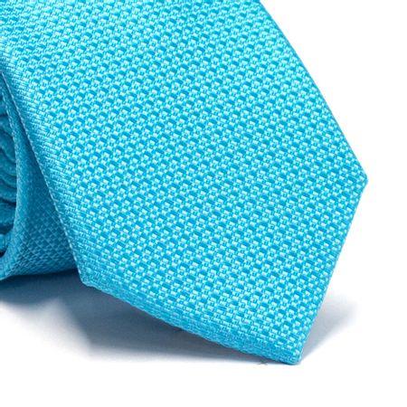 Gravata-tradicional-em-poliester-azul-tiffany-com-detalhe-na-trama