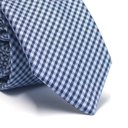Gravata-tradicional-em-poliester-xadrez-tons-de-azul
