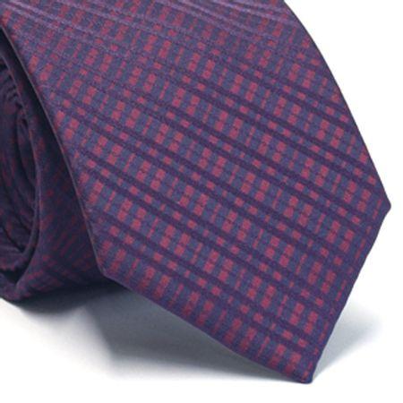 Gravata-tradicional-em-poliester-xadrez-roxa-azul-marinho-e-vinho