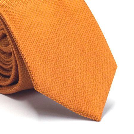 Gravata-tradicional-em-poliester-laranja-com-detalhes-na-trama