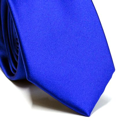 Gravata-slim-em-poliester-azul-royal