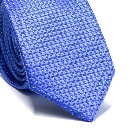 Gravata-slim-em-poliester-azul-royal-quadriculado-e-com-detalhe-em-branco