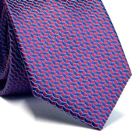 Gravata-Tradicional-em-Poliester-Furta-Cor-Azul-Marinho-com-Vinho-com-Desenhos-Geometricos