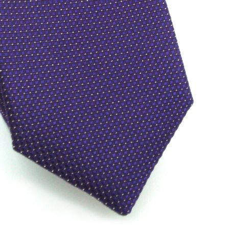 Gravata-slim-em-seda-roxa-com-quadriculado-e-pontos-brancos