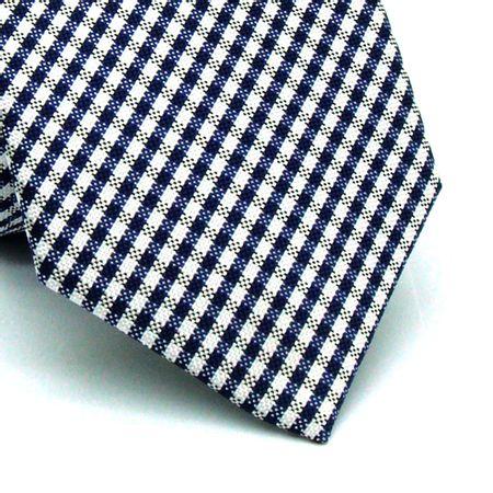 Gravata-slim-em-poliester-xadrez-azul-marinho-cinza-e-branco