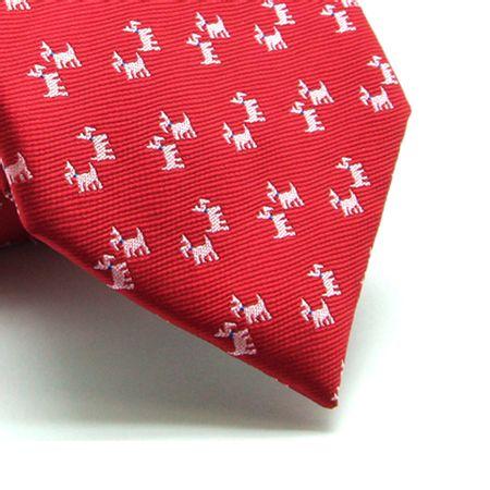 Gravata-tradicional-poliester-vermelha-desenho-dog-Camelo