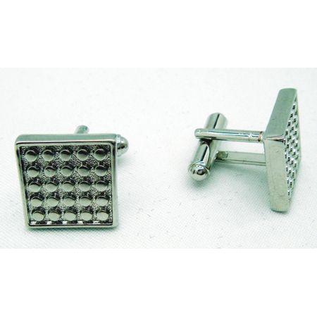 Abotoadura-quadrada-prata-com-pontos