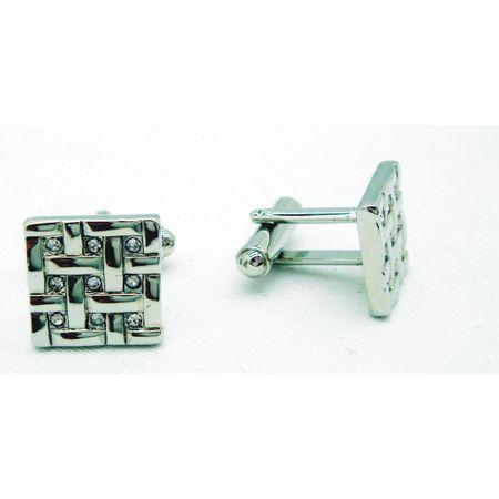 Abotoadura-quadrada-prata-com-trama-cestavada-e-strass
