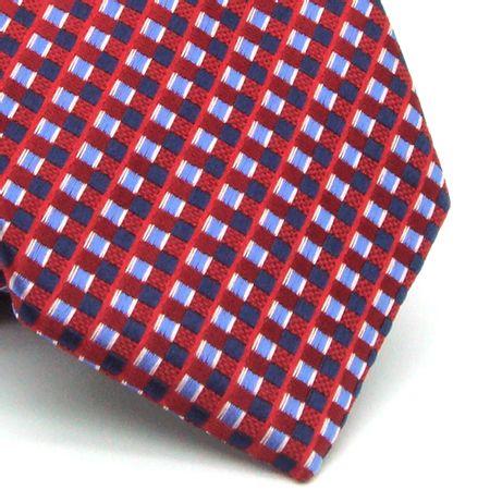 Gravata-Tradicional-Em-Poliester-Vermelha-Com-Detalhes-Na-Trama-Em-Azul-Verme
