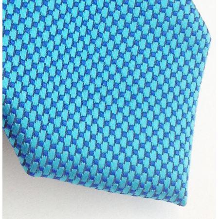 Gravata-slim-em-poliester-azul-capri-com-detalhes-azul-royal-e-preto