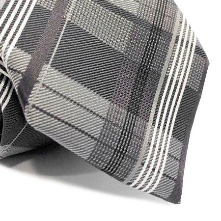 Gravata-tradicional-em-poliester-xadrez-em-tons-de-cinza-e-branco