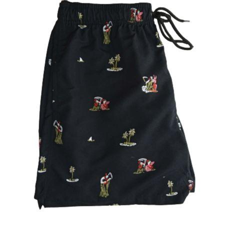 Shorts-Micro-Elastano--Preto-Estampado