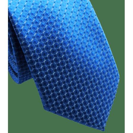 Gravata-Slim-Azul-com-Desenhos-em-Branco