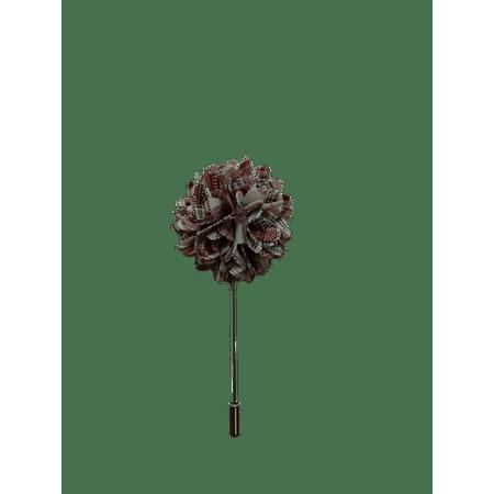 Pino-de-Lapela-Flor-Crisantemo-Xadrez-Vermelho-e-branco