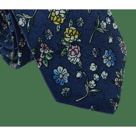 Gravata-Slim-Algodao-Floral-Azul--mini-Flores