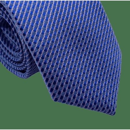Gravata-Slim-Poliester-Desenhos-Azul-e-Rosa