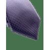 Gravata--Super-Slim-em-Poliester-lilas-com-detalhes-na-trama-e-quadrados-roxo