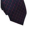 Gravata-Slim-em-Poliester-preto-com-detalhes-vermelho-na-trama