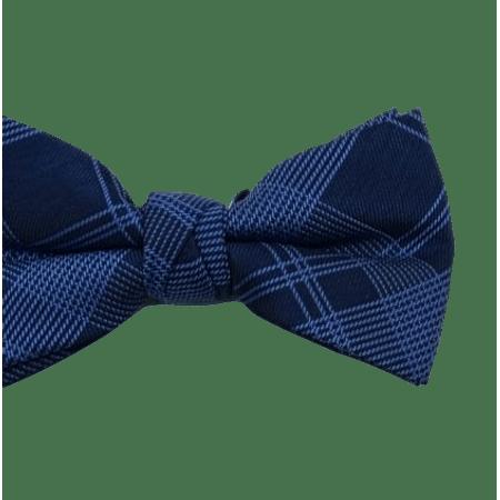 Gravata-Borboleta-xadrez-marinho-com-azul-celeste-tecido-em-poliester